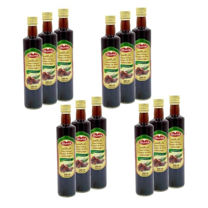 Lot 12x Vinaigre de dattes - Durra - bouteille 500ml