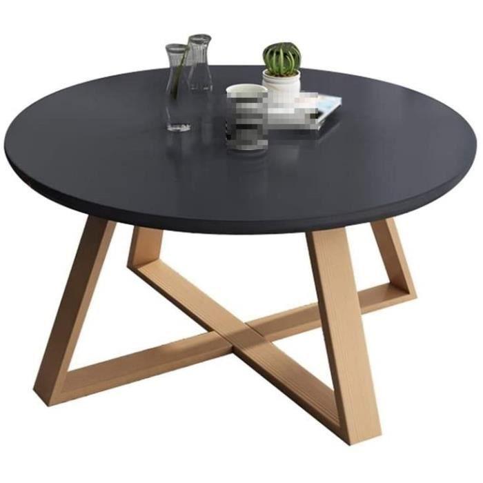 C-J-Xin Tables en Bois Massif, Fin Balcon Simple Petite Table Ronde Meubles de Salon Tables Sofa Hôtel Appartement Tables Bass[463]