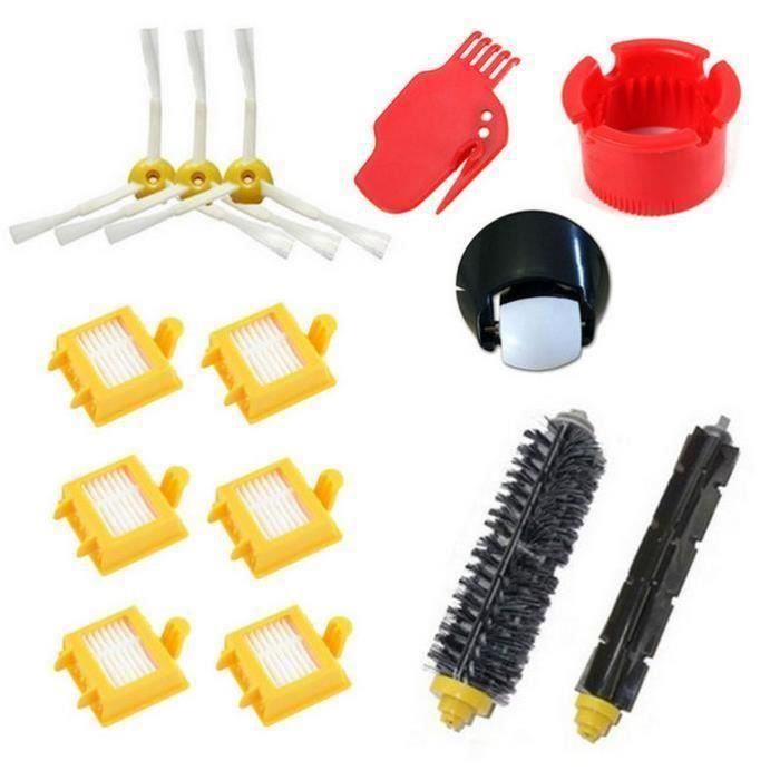 ME5479 Pack 14 remplacement kit volaex + tracteur brosse + Hepa filtre + Brosse Latérale kit Pour iRobot Roomba série 700(760 770 78