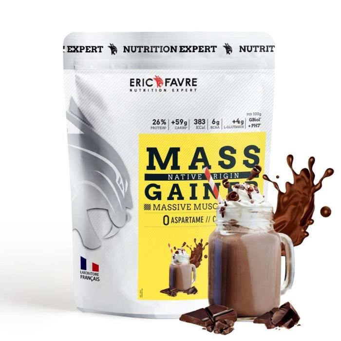 Eric Favre - Mass Gainer Native Protein - Gainers - Chocolat - 1,1kg