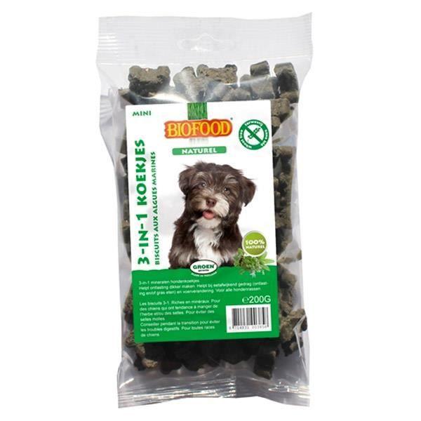 Biscuits naturels aux algues marines pour chien.