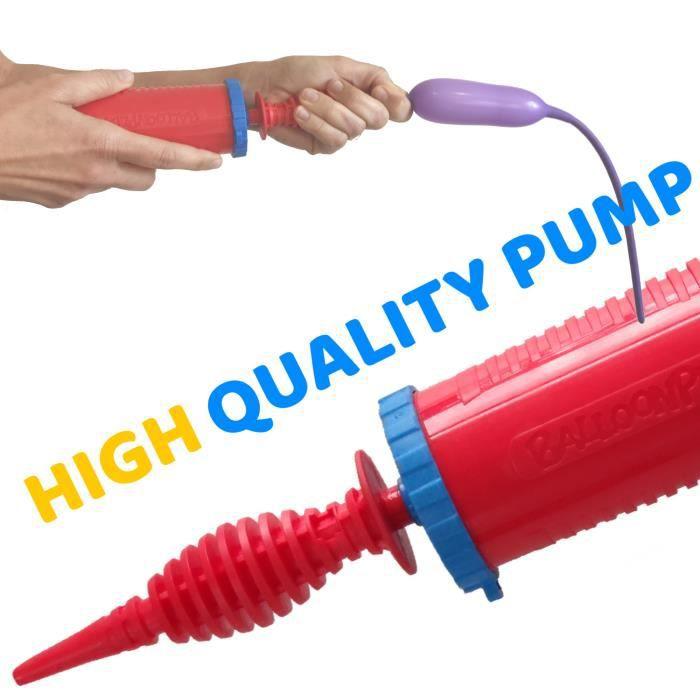 Pompe Balloon Play - Pompe portable à double action pour les ballons de modélisation et tout autre objet gonflable