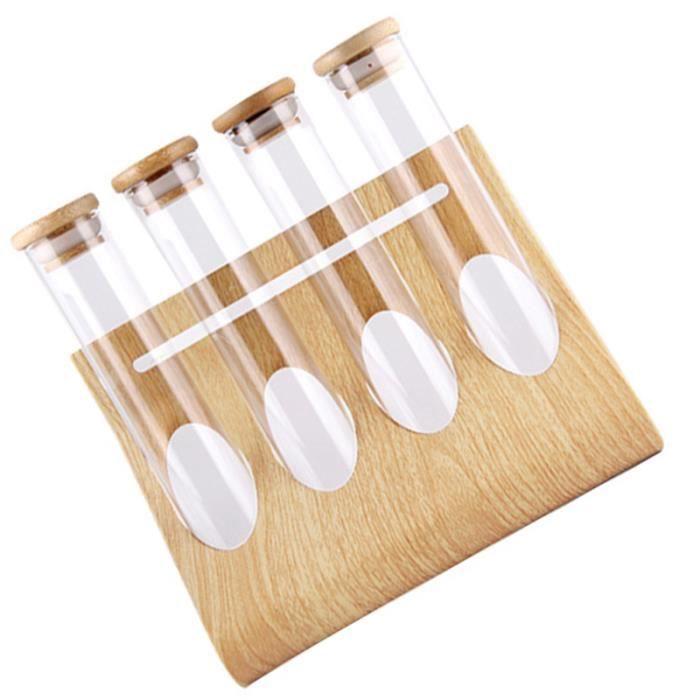 1 ensemble de grains de café présentoir de thé support de stockage tube à essai bouteille en verre transparent TUBE ELECTRONIQUE