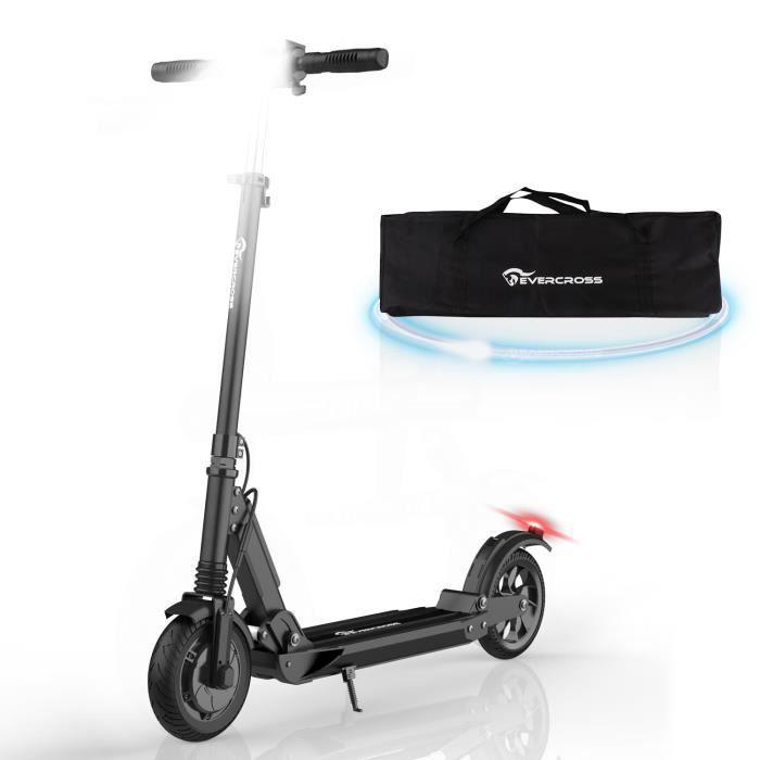 Evercross Trottinette Électrique Pliable,avec Sac de haute qualité, Scooter patinette Noir, Electric Scooter Batterie 7.5Ah, Moteur