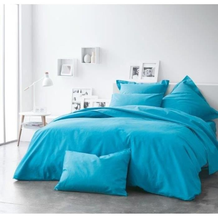today housse de couette 100 coton 240x260cm mer du sud. Black Bedroom Furniture Sets. Home Design Ideas