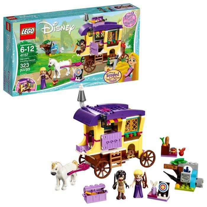 Jeu D'Assemblage LEGO Voyager Caravan 41157 Kit de construction de Disney Princess Raiponce (323 pièces) OXLAO