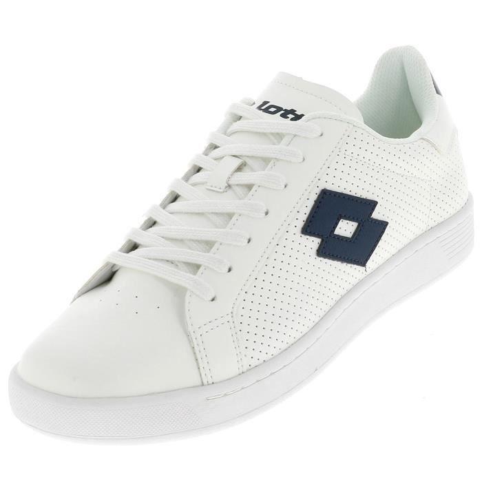 Chaussures basses cuir ou simili 1973 evo tennis retro h - Lotto