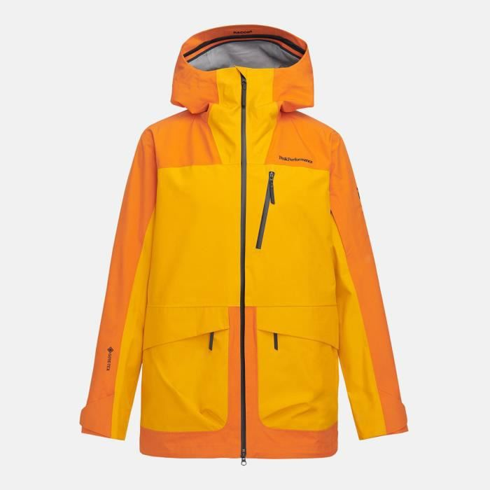 Veste De Ski/snow Peak Performance M Vertical 3l Jacket Orange Altitude Homme