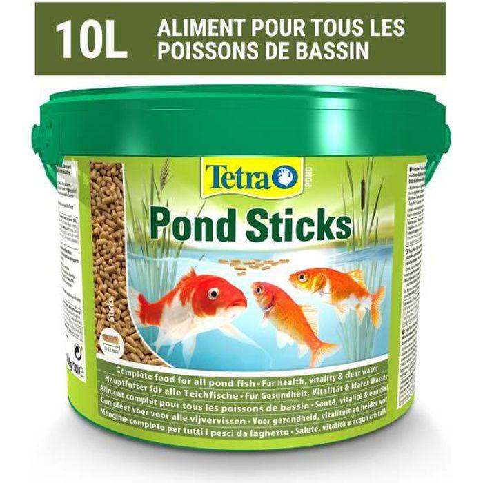 TETRA Aliment complet stick - Tetra Pond Sticks - 10 L - Pour poisson de bassin