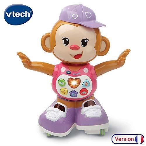 VTech - Titi Ouistiti – singe interactif – jouet singe – jouet bebe 12-36 mois – rose 80-505985