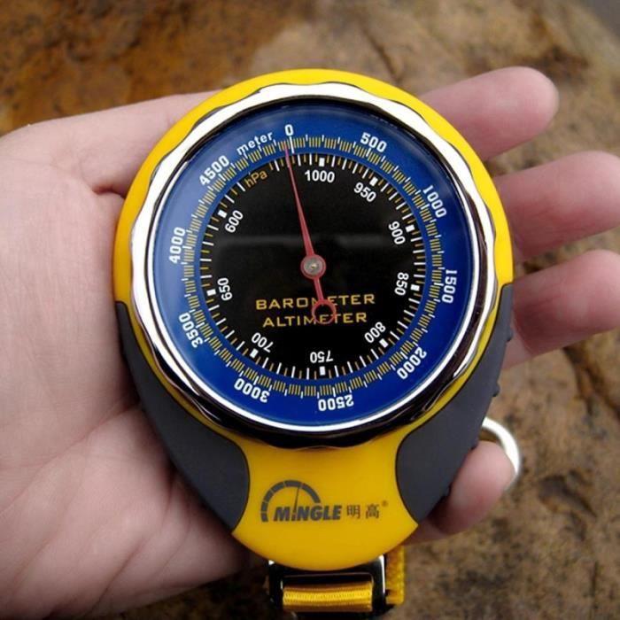 Altimètre multifonctions avec boussole et baromètre thermomètre - 176754 Noir
