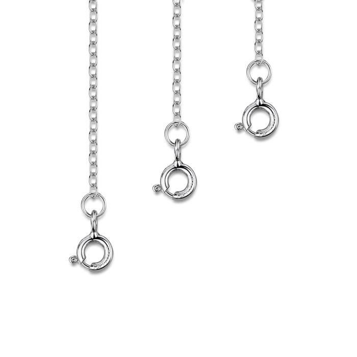Nickel Free Solid Sterling Silver italien 1.1 mm Rond Chaîne Serpent Collier