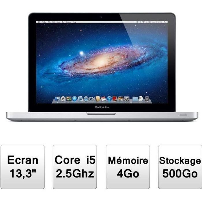 apple macbook pro a1278 prix pas cher cdiscount. Black Bedroom Furniture Sets. Home Design Ideas