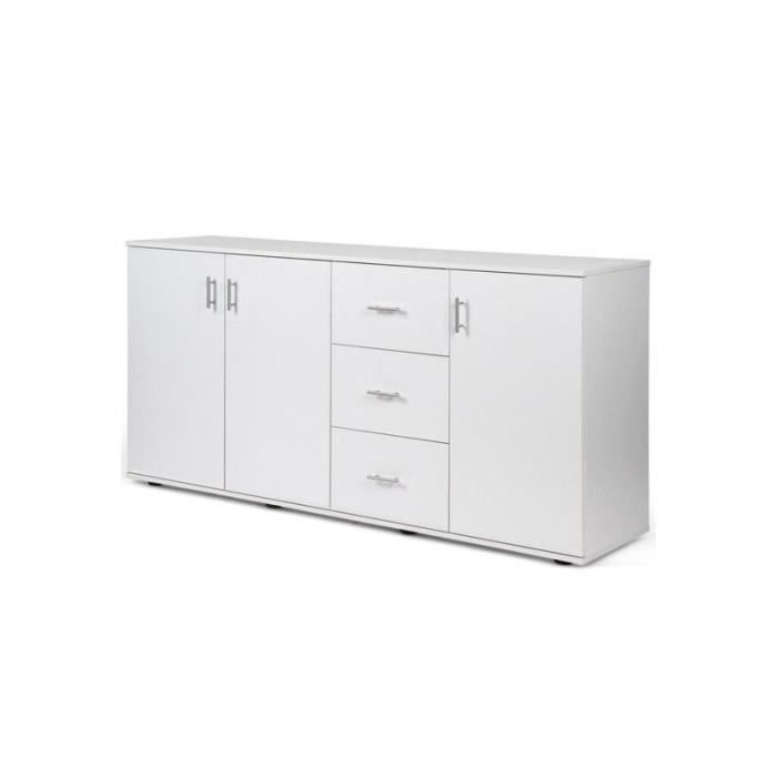 grande commode placard meuble de rangement blanc 1401078 achat vente commode de chambre. Black Bedroom Furniture Sets. Home Design Ideas
