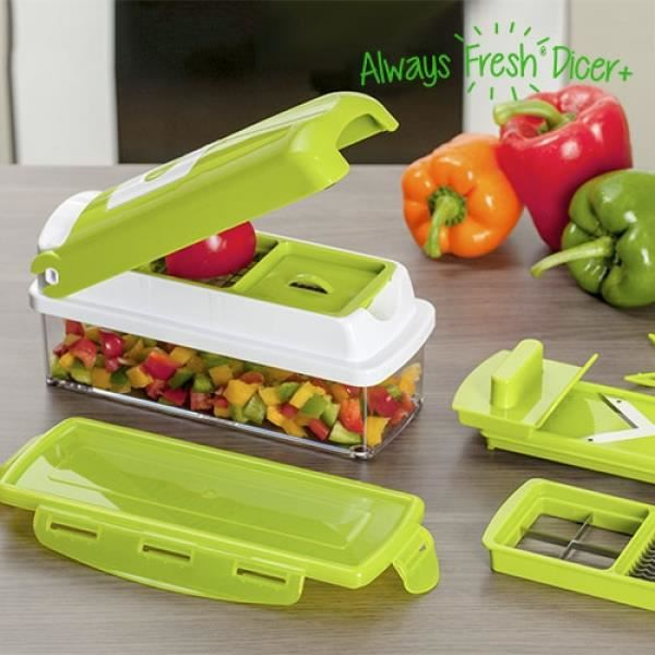 Coupe l gumes always fresh dicer achat vente mandoline de cuisine coupe l gumes always fresh - Nicer dicer coupe legumes ...