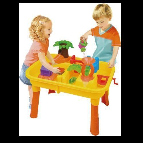table jeu plage sable eau enfant jouet jardin achat vente assemblage construction table jeu. Black Bedroom Furniture Sets. Home Design Ideas