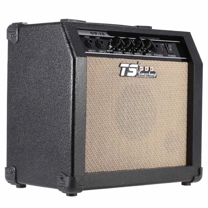 AMPLIFICATEUR GT-15 professionnel 3-Band EQ 2 canaux guitare amp