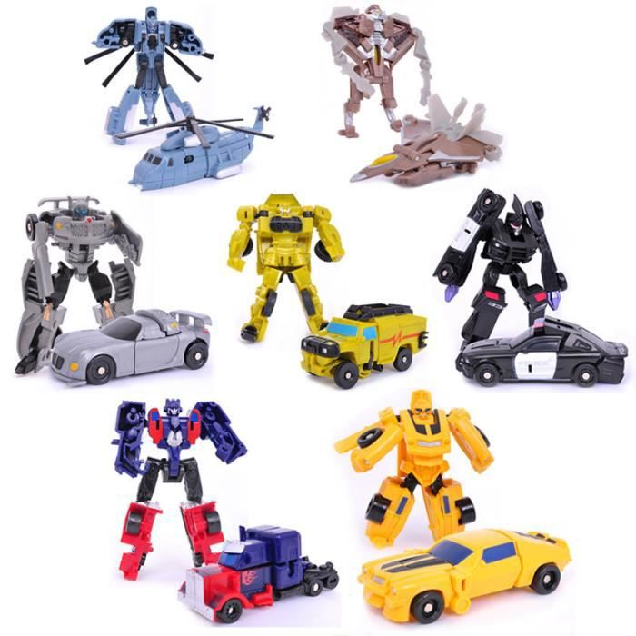 lot de 7 robot voiture transformer jouets figurines cadeaux de no l achat vente terrain. Black Bedroom Furniture Sets. Home Design Ideas