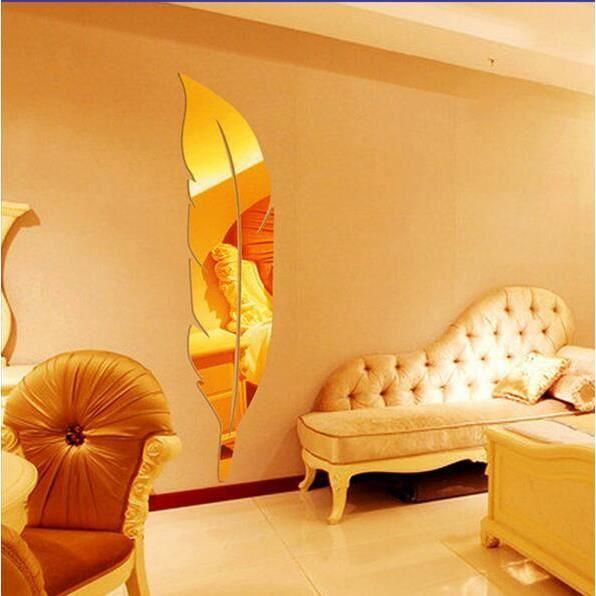 TV d/écoration murale canap/é chambre salon Argent/é d/écoration murale plastique S/_17x19cm Lot de 6 autocollants muraux effet miroir 3D ondul/és pour d/écoration de la maison