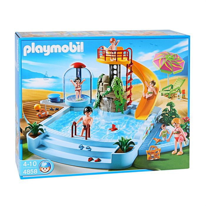 Piscine Playmobile 4858 Of Playmobil 4858 Piscine Et Toboggan Achat Vente Univers