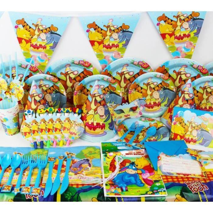 Kit De Fete Anniversaire La Winnie L Ourson 16ps Achat Vente Kit De Decoration Soldes Sur Cdiscount Des Le 20 Janvier Cdiscount