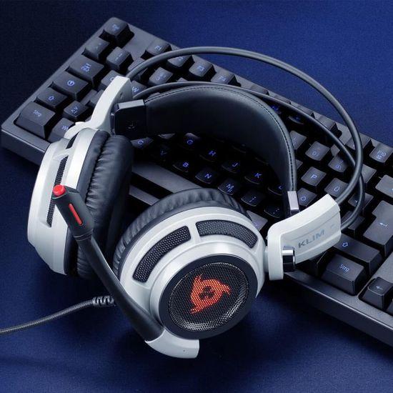 KLIM Puma - Micro Casque Gamer - Son 7.1 - Audio Très Haute Qualité - Casque PS5 avec Vibrations Intégrées - Confortable - Parfait p