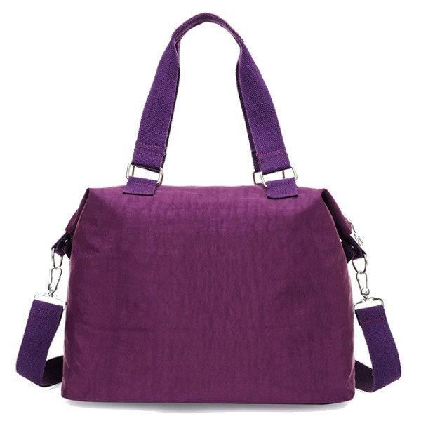 SBBKO4155Femmes Multi Front Pockets Tote Sacs à main Casual Sacs bandoulière Light Waterproof Crossbody Bags Violet