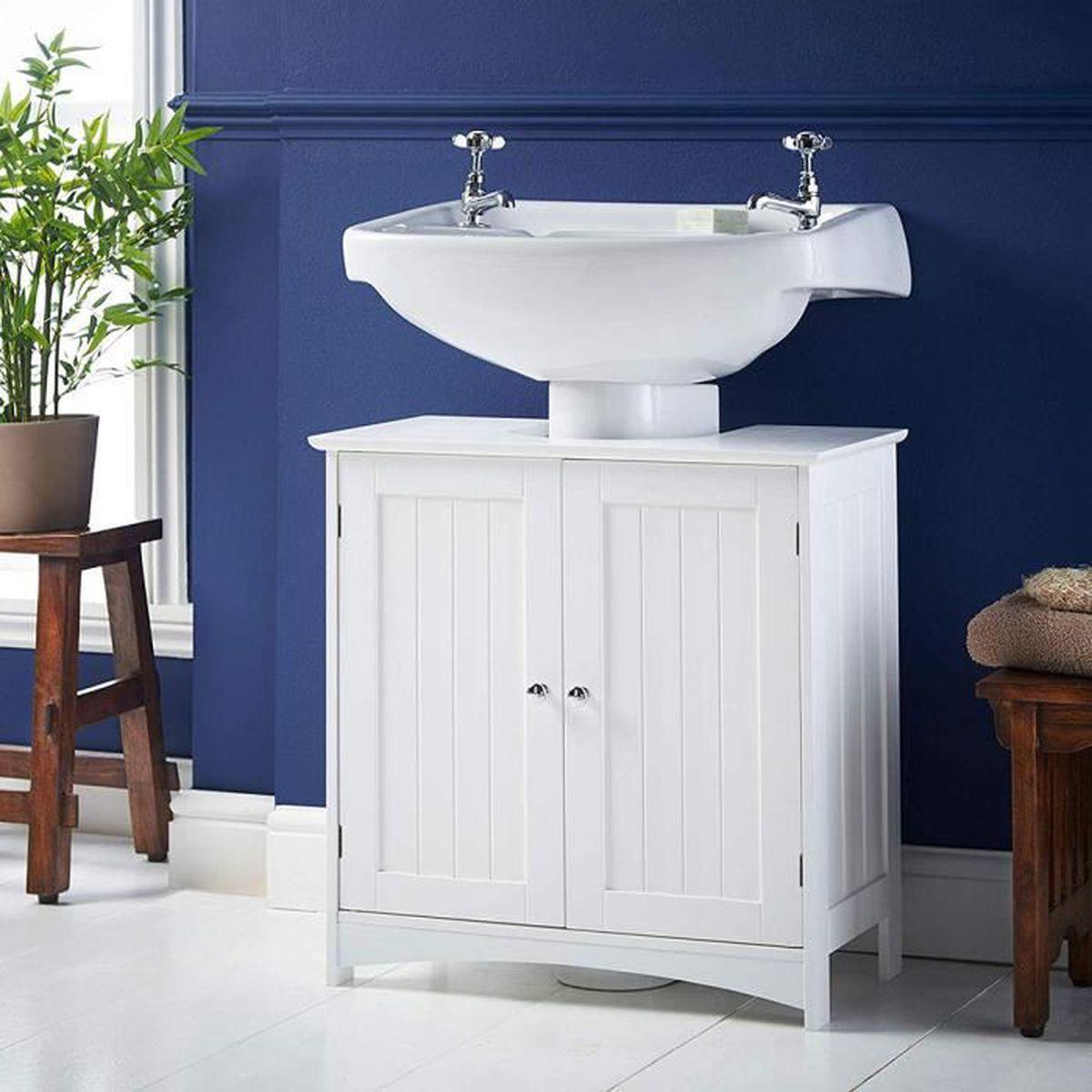 Vasque Sur Pied Avec Meuble meuble bois salle de bain avec vasque 60cm