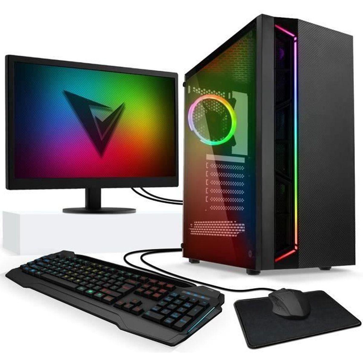 UNITÉ CENTRALE + ÉCRAN VIBOX Vision 2W PC Gamer Ordinateur avec War Thund