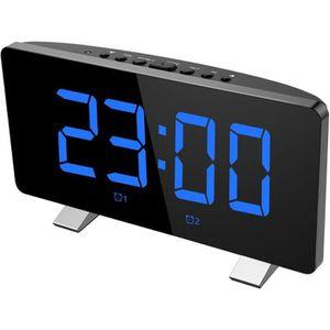 Radio réveil Radio Réveil Projecteur,12/24 heures, 3 niveaux de