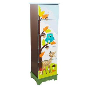 COMMODE DE CHAMBRE Commode en bois avec 5 tiroirs pour chambre enfant