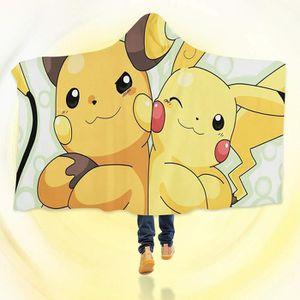 COUVERTURE - PLAID 3D Hooded Blanket for Pokemon 8240  Couverture à C