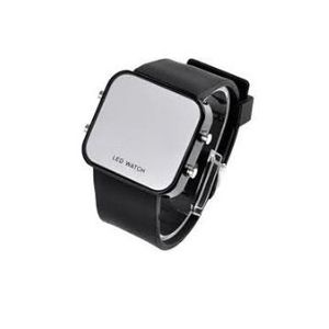 Montre led silicone for Miroir noir watch online