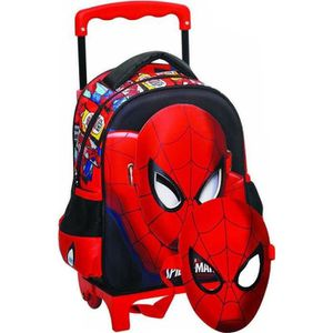 CARTABLE Sac à roulettes trolley maternelle Spiderman Comic