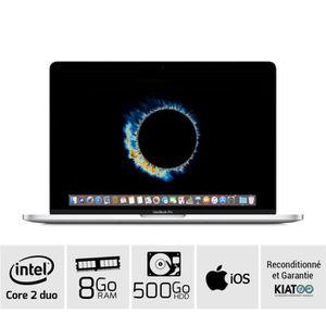 Achat PC Portable MACBOOK PRO 13 Gris A1278 core 2 duo 8 go ram 500 go HDD disque dur clavier QWERTY pas cher
