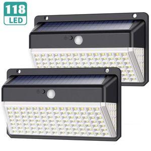 LAMPE DE JARDIN  Lampe Solaire Extérieur 118 LED, Yacikos【Dernière