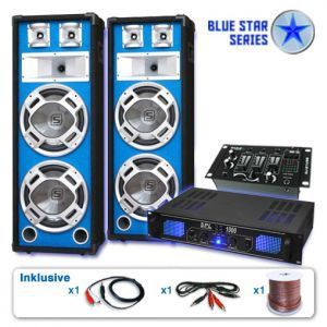 TABLE DE MIXAGE Set sono DJ PA blue star series 2800Watt