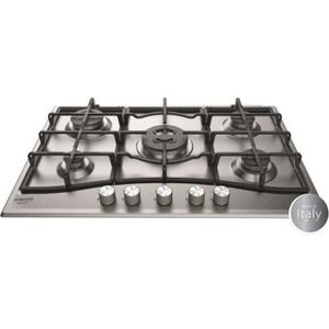 PLAQUE GAZ HOTPOINT PNN 751 IX - Table de cuisson gaz - 5 foy