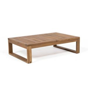 TABLE BASSE JARDIN  Table basse de jardin rectangulaire en acacia FSC
