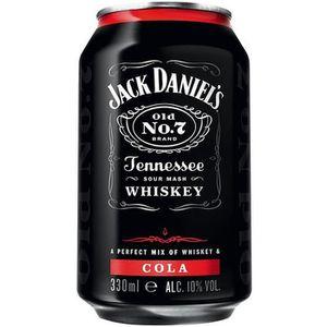 WHISKY BOURBON SCOTCH Jack Daniels Tennessee Whiskey & Cola 6 x 0,33l