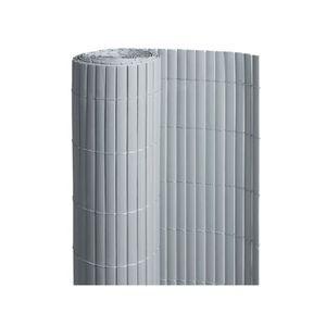 CLÔTURE - GRILLAGE Canisse PVC double face Gris 18 m - 6 rouleaux de