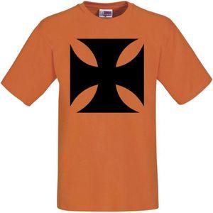 T-SHIRT Tee shirt bikers ORANGE croix Ch…
