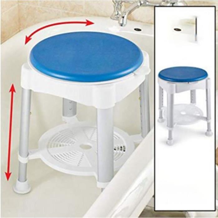 Tabouret de salle de bain pivotant à hauteur réglable KIT QUINCAILLERIE MEUBLE ke152