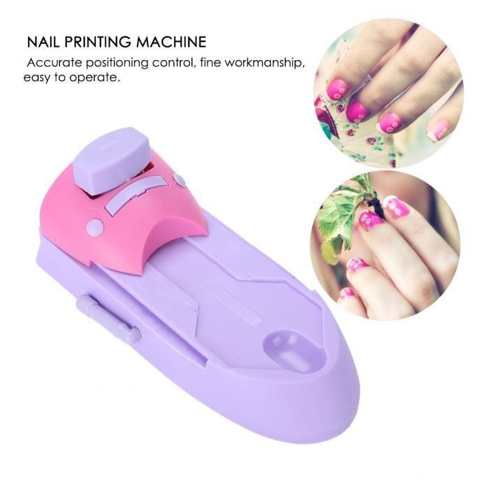 Nail Art Machine d'impression d'ongles Dessin d'impression Motif manucure timbre machine Stamper Kit DIY