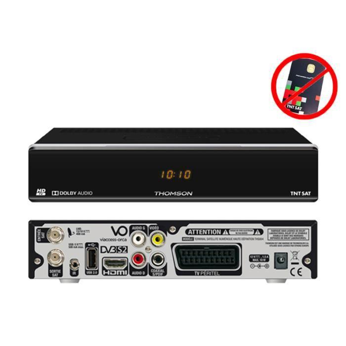 Thomson THS 804 Décodeur satellite TNTSAT HD (vendu sans carte TNTSAT)
