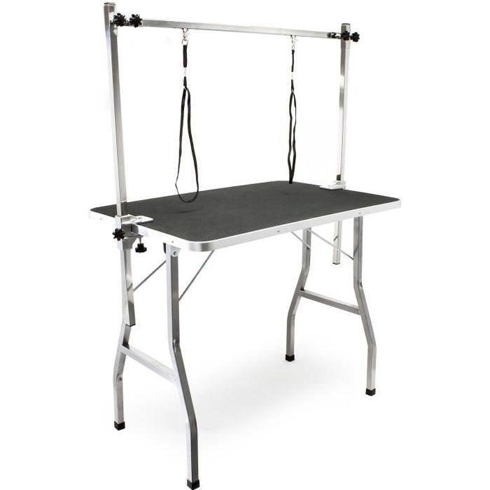 Table de toilettage avec 2 sangles Table de soins pour Chiens et Chats - 51718