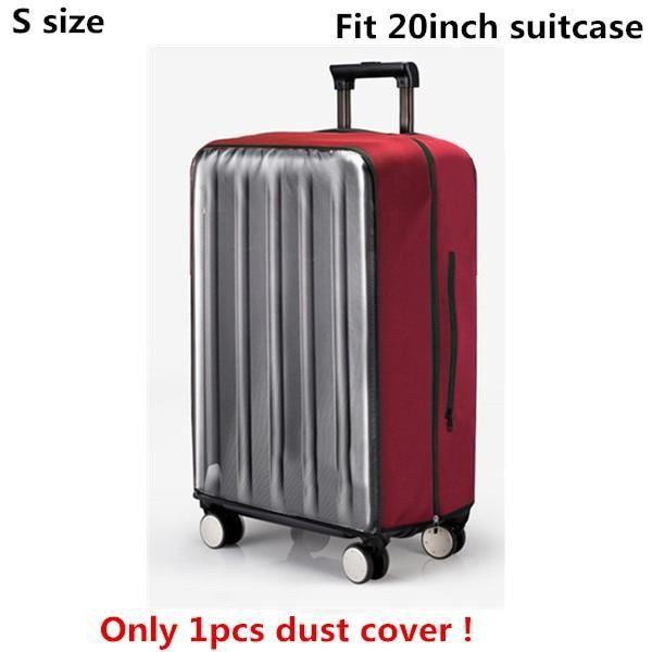vin rouge S-couverture - housse de protection anti-poussière en PVC Transparent pour bagages, valise à roulet