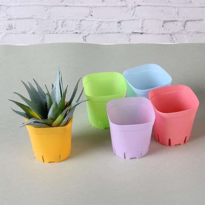 Pot de fleurs plastique carré Mini 10 pièces-lot Plateau à plantes fournitures de jardin plante verte outil de plantation de déc