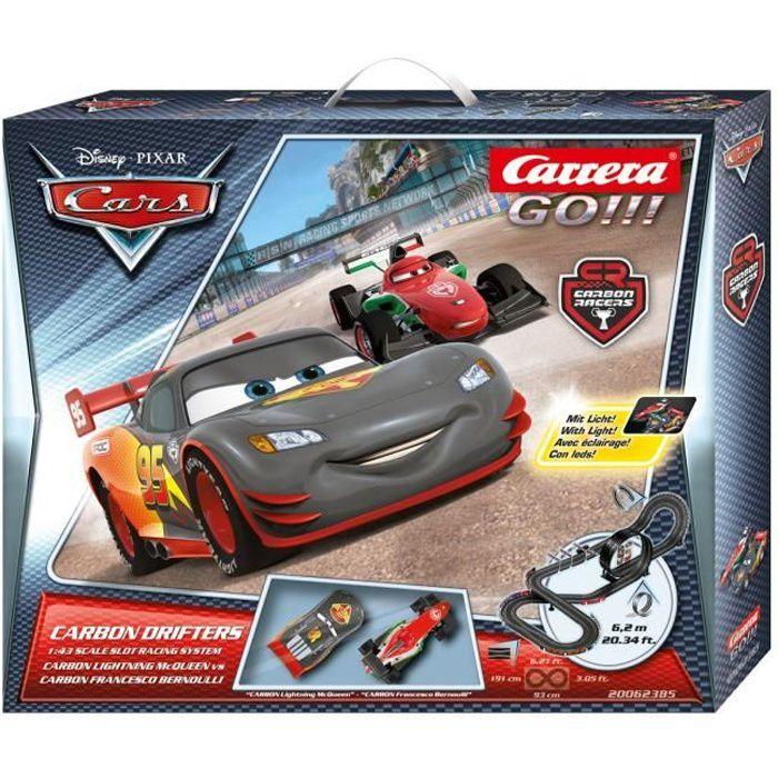 Circuit Carrera Go!!! Disney / Pixar - Carbon Drifters à l'échelle 1/43