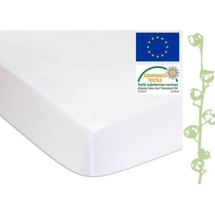 EASY DORT Protège matelas, alèse 90x190 cm - Éponge Coton Bio + PU -Lit 1 place Enfant, Adulte 90 x 190cm - Imperméable Confortable
